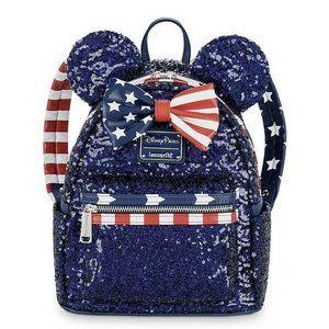 Disney Loungefly Mini Backpack Americana USA flag